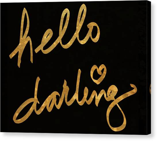 Metallic Canvas Print - Darling Bella I by South Social Studio