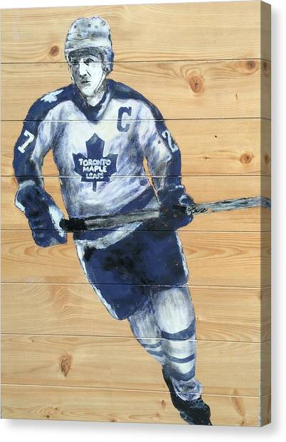 Toronto Maple Leafs Canvas Print - Darryl Sittler by Carly Jaye Smith