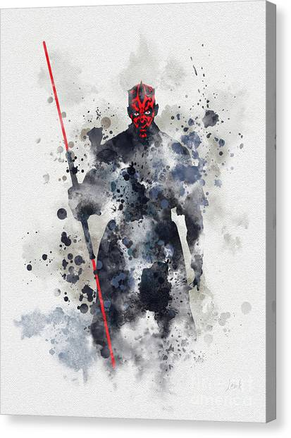 Jedi Canvas Print - Darth Maul by Rebecca Jenkins