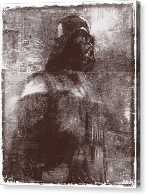 Darth Vader Abstract Xiii Canvas Print