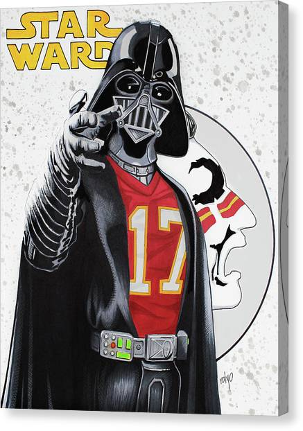Florida State Fsu Canvas Print - Darth Vader In A Charlie Ward Jersey By Rolyo by Roly O