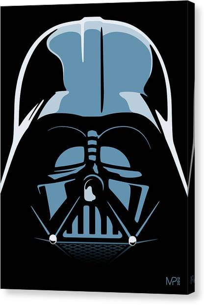 Blue Canvas Print - Darth Vader by IKONOGRAPHI Art and Design