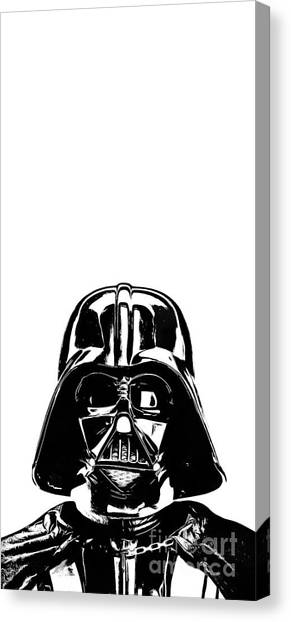 Star Trek Canvas Print - Darth Vader Painting by Edward Fielding