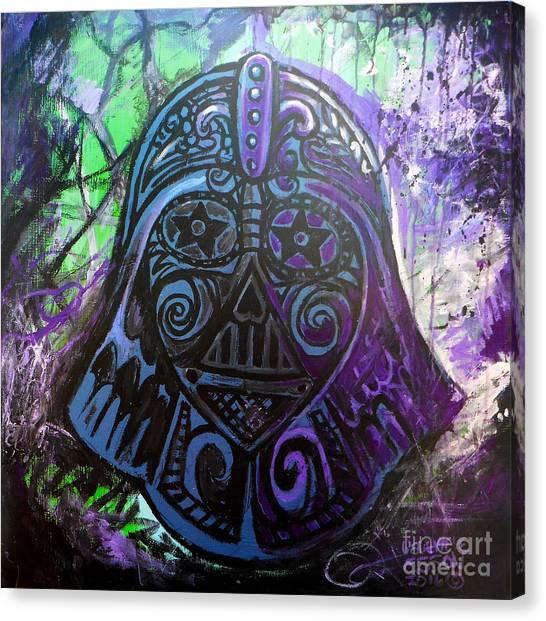 Leia Organa Canvas Print - Darth Vader Sugar Skull by Genevieve Esson