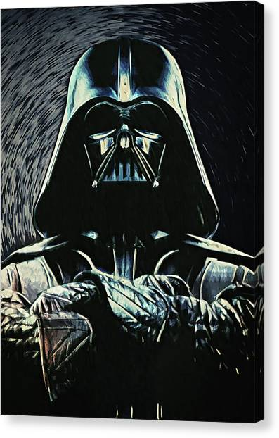 Leia Organa Canvas Print - Darth Vader by Zapista
