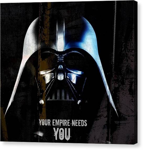 Darth Vader Canvas Print - Darth Vader - Your Empire Needs You by Paul Lovering