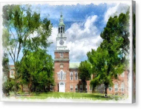 Dartmouth College Canvas Print - Dartmouth Collage by Edward Fielding