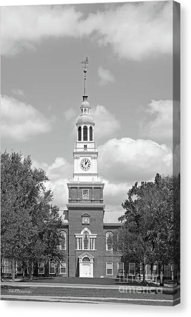 Dartmouth College Canvas Print - Dartmouth College Baker Library by University Icons