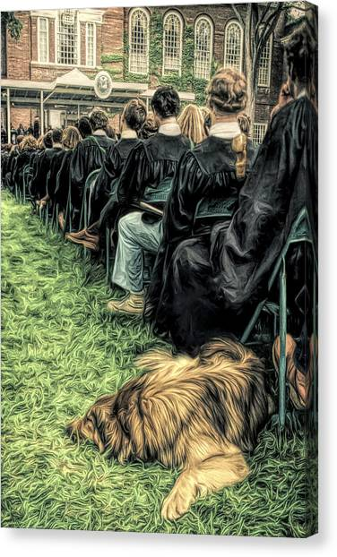 Dartmouth College Canvas Print - Dartmouth Dogs by George Robinson