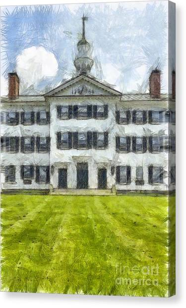 Dartmouth College Canvas Print - Dartmouth College Hanover New Hampshire Pencil by Edward Fielding