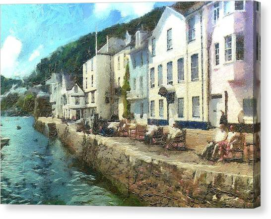 Bayards Cove Dartmouth Devon  Canvas Print