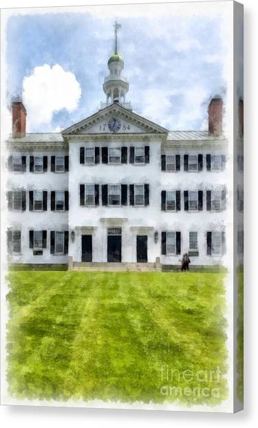 Dartmouth College Canvas Print - Dartmouth Hall Dartmouth College by Edward Fielding