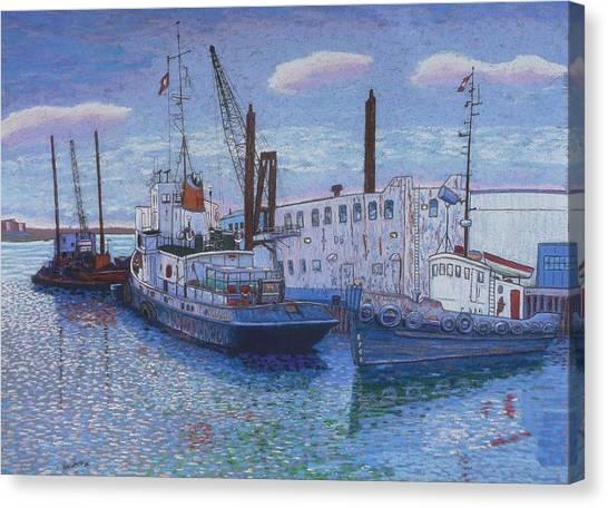 Dartmouth Marine Slips Canvas Print
