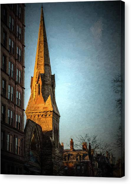 Dartmouth Street In Boston Canvas Print