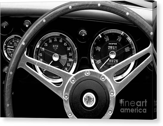 Canvas Print featuring the photograph Dashboard by Stephen Mitchell