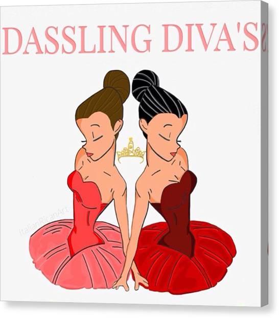 Ballerinas Canvas Print - #dasslingdivas Did This For A Friend Of by ItalianRican Art