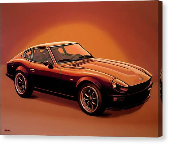 Oldtimers Canvas Print - Datsun 240z 1970 Painting by Paul Meijering