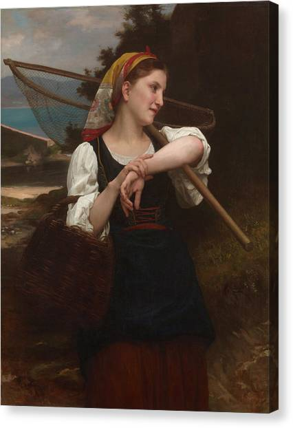Academic Art Canvas Print - Daughter Of Fisherman by Adolphe William Bouguereau