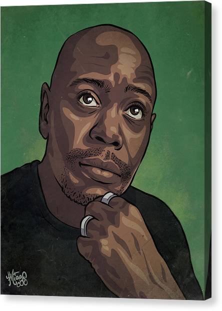 Design Canvas Print - Dave Chappelle by Miggs The Artist