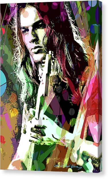 Dave Gilmour Dark Side Canvas Print