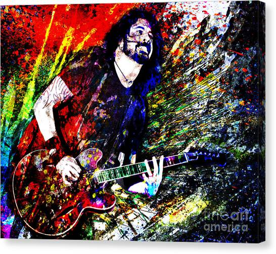 Nirvana Canvas Print - Dave Grohl Art  by Ryan Rock Artist