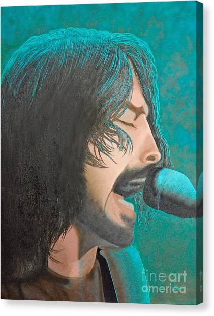 Dave Grohl Of The Foo Fighters Canvas Print
