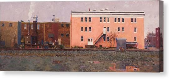 Warehouses Canvas Print - Dave Matthews Pink Warehouse by Edward Thomas