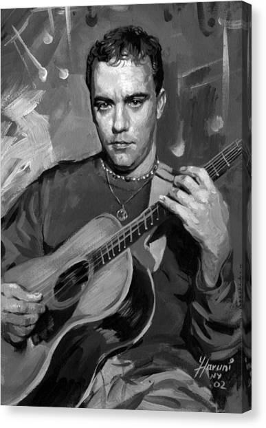 Acoustic Guitars Canvas Print - Dave Matthews by Ylli Haruni