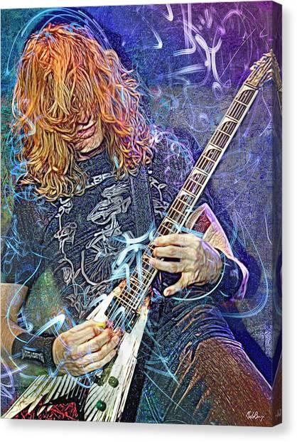 Jeff Hanneman Canvas Print - Dave Mustaine, Megadeth by Mal Bray