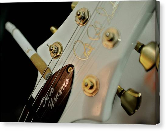 Paul Reed Smith Canvas Print - Dave Navarro Signature Prs Headstock by Lisa Johnson