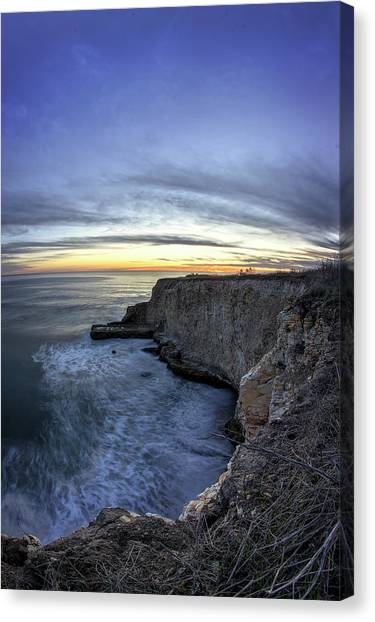 Davenport Bluffs At Sunset Canvas Print