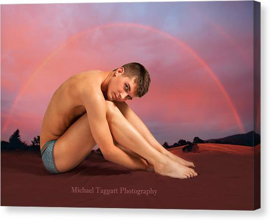 Rainbow Six Canvas Print - David Ashley In Rainbow by Michael Taggart