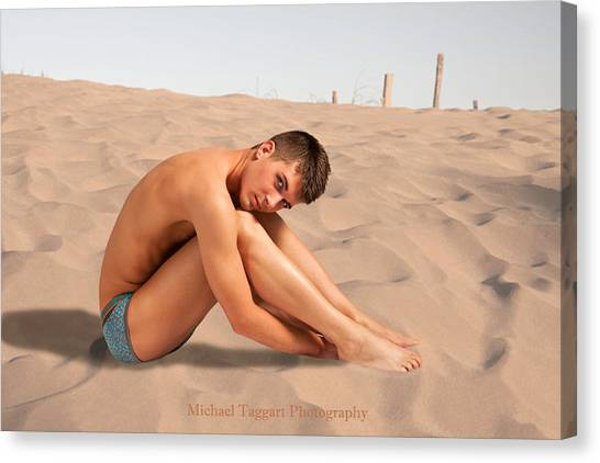 David Ashley On Sand Canvas Print