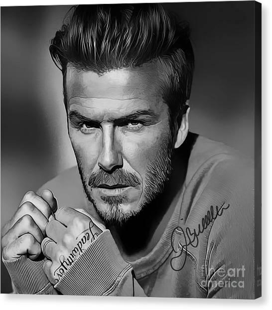 La Galaxy Canvas Print - David Beckham Art by Kjc