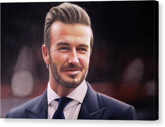David Beckham Canvas Print - David Beckham Oil Painting by One Art