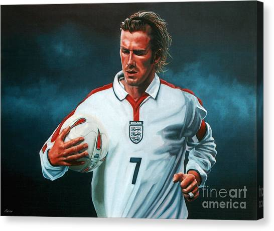 David Beckham Canvas Print - David Beckham by Paul Meijering