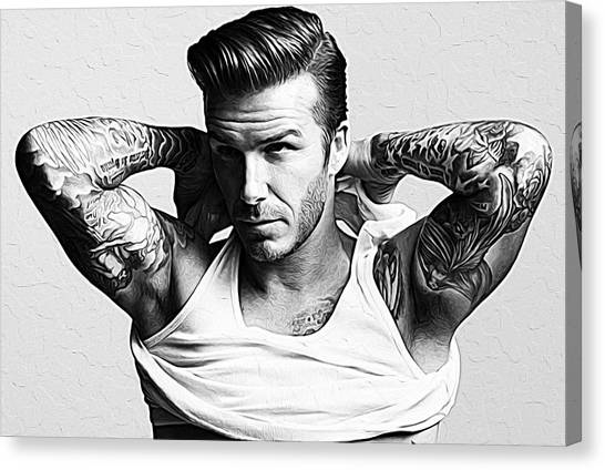 David Beckham Canvas Print - David Beckham by Queso Espinosa