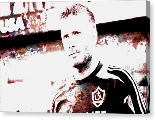 British Premier League Canvas Print - David Beckham The Legend by Brian Reaves