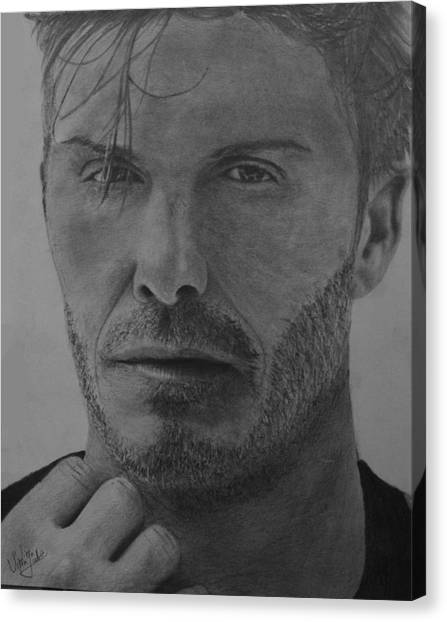 David Beckham Canvas Print - David Beckham by Vipin Sahu