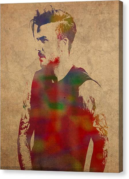 David Beckham Canvas Print - David Beckham Watercolor Portrait by Design Turnpike
