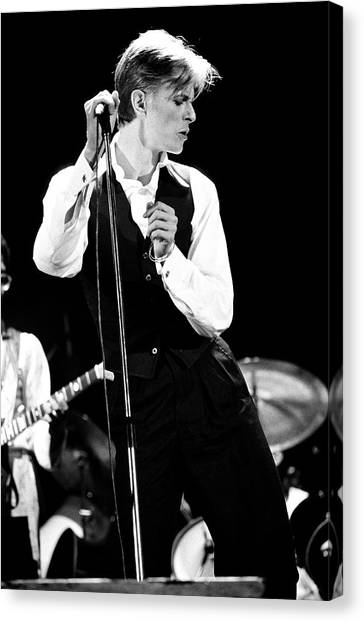 Music Canvas Print - David Bowie 1976 #2 by Chris Walter