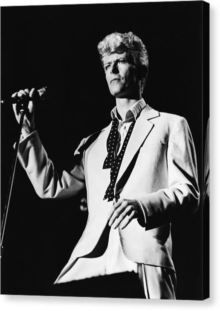 David Bowie Canvas Print - David Bowie 1983 Us Festival by Chris Walter