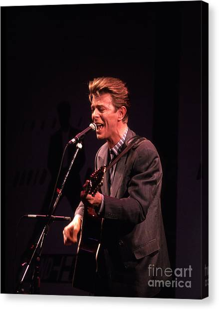 Chris Walter Canvas Print - David Bowie 1990 by Chris Walter