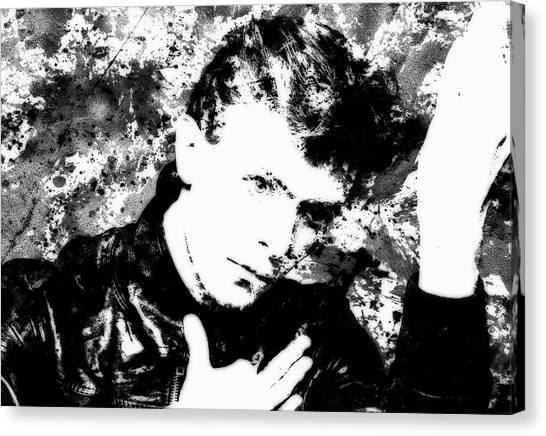 Briton Canvas Print - David Bowie 4c by Brian Reaves