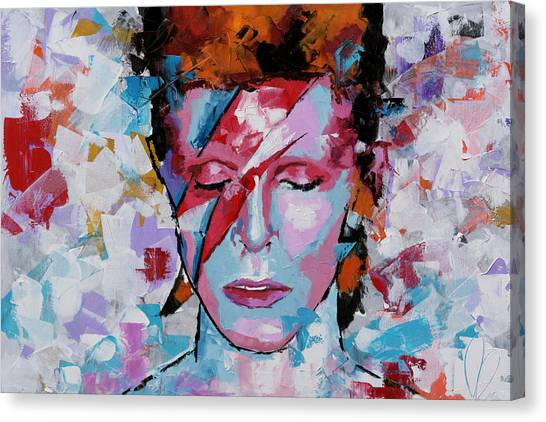 David Bowie Canvas Print - David Bowie Aladdin Sane by Richard Day