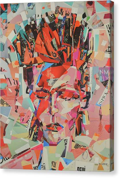 David Bowie Canvas Print - David Bowie Art Painting Print Canvas - Rebel, Rebel by Damon Gray