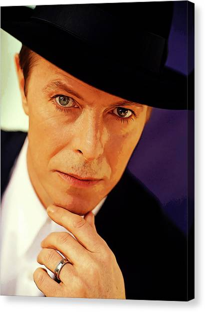 David Bowie Canvas Print - David Bowie As An Average Everyman by Elaine Plesser