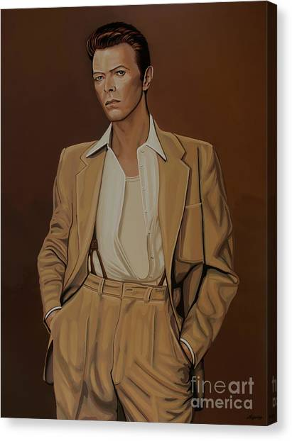 David Bowie Canvas Print - David Bowie Four Ever by Paul Meijering