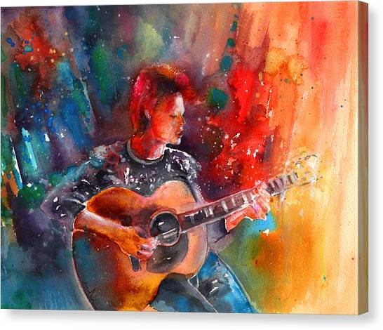 David Bowie In Space Oddity Canvas Print