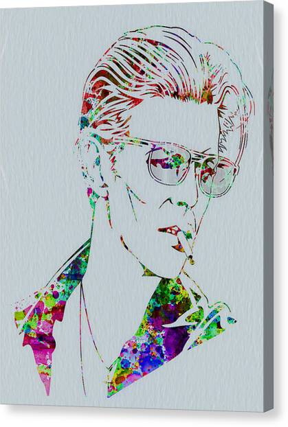 David Bowie Canvas Print - David Bowie by Naxart Studio